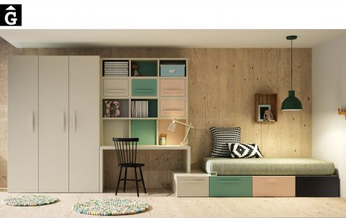 Ambers llit amb calaixos Lagrama by mobles gifreu