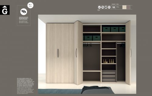 Armari portes plegables JJP NoLimits by Mobles GIFREU Girona Armaris a mida modern minim elegant atemporal