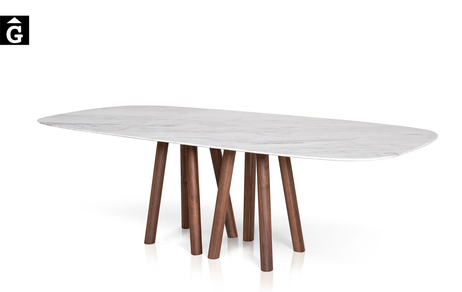 27 2 Taula menjador Mos-i-ko sobre marbre blanc al2 fabricant de mobles Grec distribuïdor mobles Gifreu