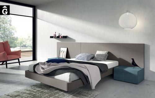 Liso Titanio Habitació llit gran Lagrama