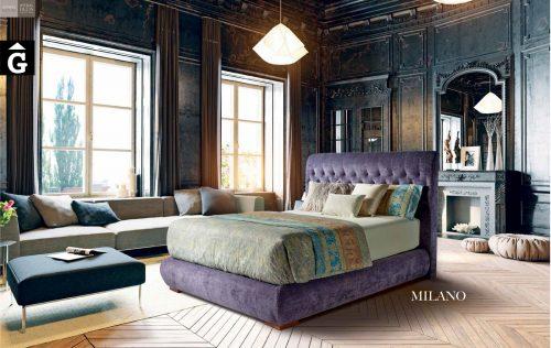 Milano llit entapissat Beds Astral Nature descans qualitat natural i salut junts per mobles Gifreu