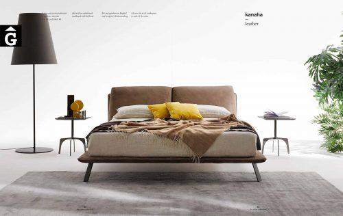 Kanaha llit entapissat pell - Ditre Italia llits entapissats disseny i qualitat alta by mobles Gifreu