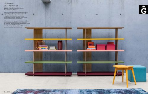 Moble llibreria massissa roure Zero16 Colors vius by Devina Nais i mobles Gifreu