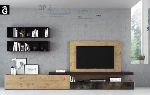 On Plus moble Tv roure nuos i porcellànic ViVe muebles Verge programa mobles menjador rebedor living by mobles Gifreu