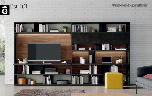 Llibreria moble Tv Line Vive Noguera taiga arena i pizarra muebles Verge programa llibrera llibreries living by mobles Gifreu