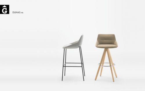 Tamboret Dunas XS peu fusta i peu metall Inclass mobles Gifreu