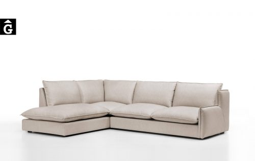 Sofà terminal Kembo important producte de la firma Moradillo by mobles Gifreu tapisseria de qualitat sofas relax llits puff pouf chaixelongues butaques sillons