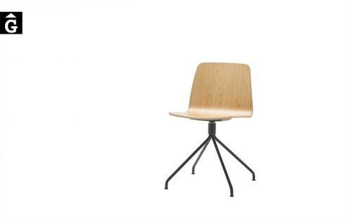 Cadira peu central giratori Varya | Inclass cadires tamborets i taules | mobles Gifreu