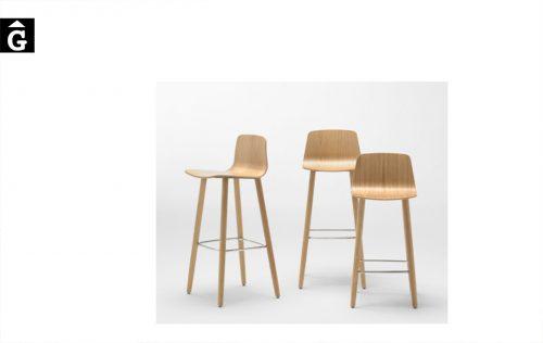 Tamborets Varya Wood potes fusta diferents alçades seient Inclass cadires tamborets i taules | mobles Gifreu