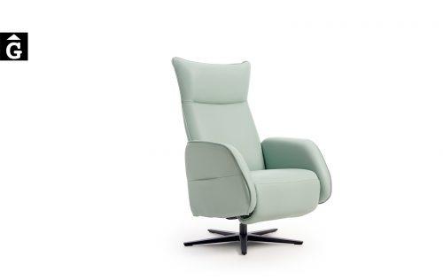 Butaca relax Bora peu giratori metall Reys Ordoñez Sofas disseny i qualitat alta by mobles Gifreu