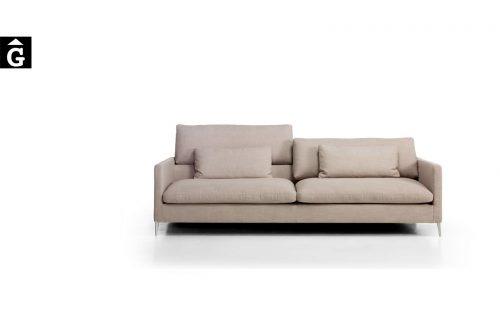 Sofà Ami de front dos i tres places de Moradillo by mobles Gifreu tapisseria de qualitat sofas relax llits puff pouf chaixelongues butaques sillons