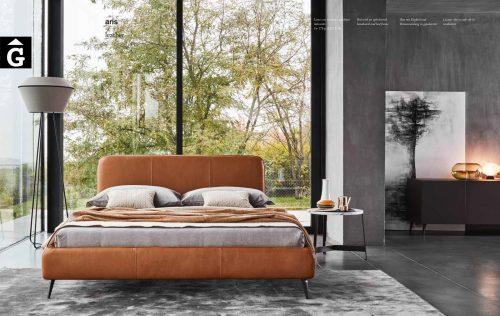 Llit entapissat pell Aris | Ditre Italia llits entapissats disseny i qualitat alta by mobles Gifreu