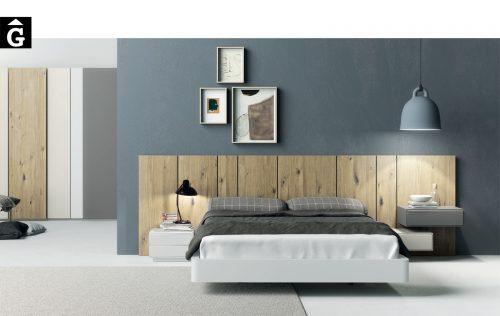 Moble habitació llit gran roure nuos | Besform mobles Gifreu Girona qualitat i a mida
