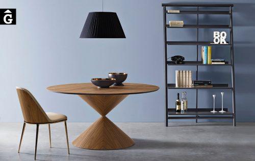 Taula rodona Clessidra xapa natural | MIDJ | mobles Gifreu | Productes de qualitat
