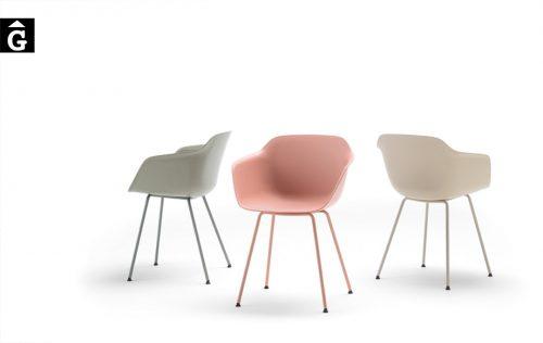 Cadires Taia 4 potes metall | Inclass cadires tamborets i taules | mobles Gifreu