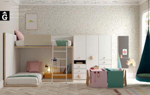 Llitera Cottage en forma L | Habitació Juvenil I lagrama | mobles Gifreu