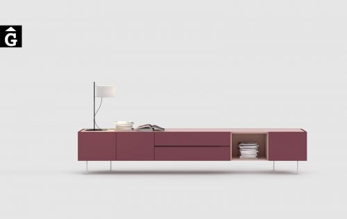 Moble TV laca Burdeos i Rosa   Area One   mobles Ciurans   mobles Gifreu