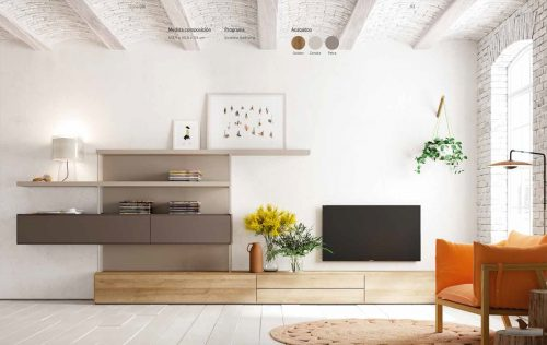 Moble Tv Golden i Petra   lagrama   mobles Gifreu