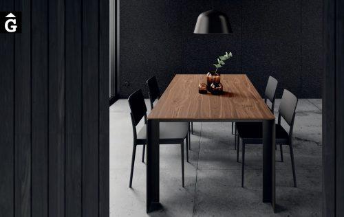 Taula Tavole amb Sobre Noguera potes metall Marengo | Moble de Qualitat | Vive | mobles Gifreu