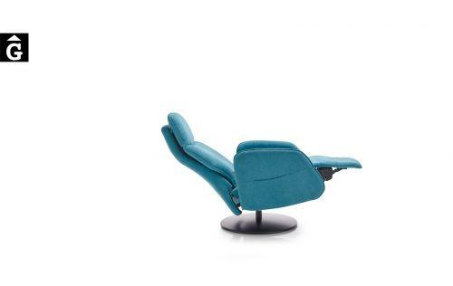 Butaca relax Panda peu central disc | Posició horitzontal | Mecanisme obert | Reyes Ordoñez Sofas disseny i qualitat alta distribuïdor oficial mobles Gifreu