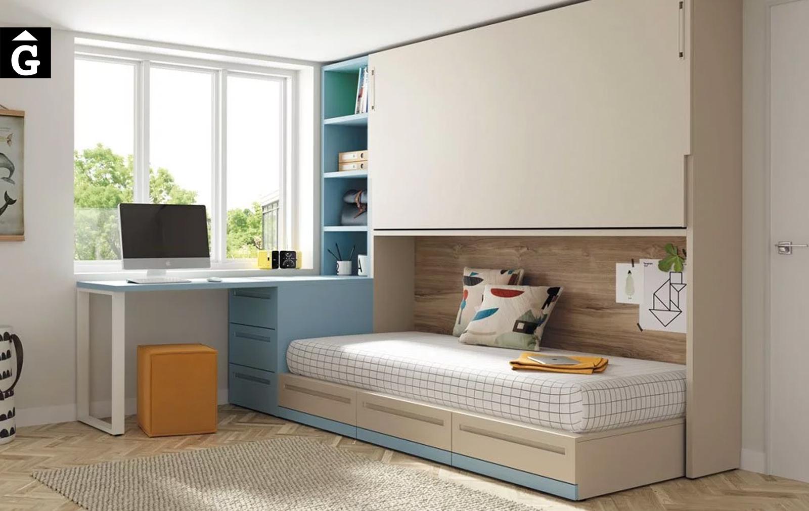 Habitació juvenil Arena Celeste Up & Down   llits abatibles   Pràctics, saludables i segurs   Jotajotape   mobles Gifreu