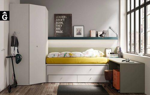 Habitació juvenil amb llit lliscant reversible | lagrama | mobles Gifreu