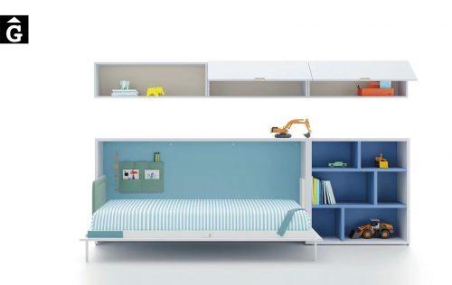 Habitació juvenil llit abatible horitzontal Oceano Up & Down | llits abatibles | Pràctics, saludables i segurs | Jotajotape | mobles Gifreu