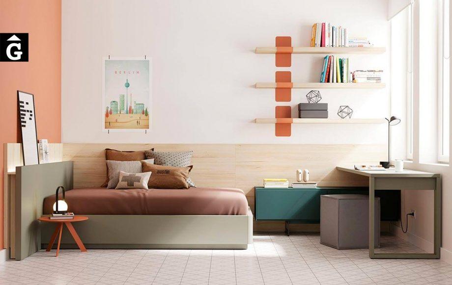 Habitació juvenil llit gran Tau   lagrama   mobles Gifreu