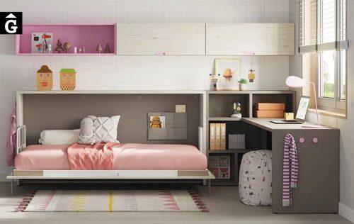 Habitació juvenil amb llit abatible Pink
