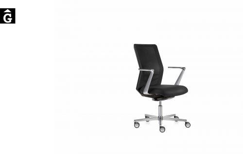 Cadira treball Equis crom i negre   Jorge Pensi   Dile   mobiliari d'oficina molt interessant   mobles Gifreu   botiga   Contract   Mobles nous oficina