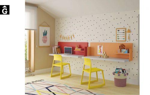 Escriptoris infantils a paret | Up & Down | llits abatibles | Pràctics, saludables i segurs | Jotajotape | mobles Gifreu