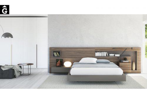 Habitació Capçal Box Xapa fusta natural nogal antic | Besform mobles Gifreu | Mobles de qualitat i a mida | Girona
