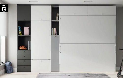 Habitació amb llitera i escriptori Up & Down | llits abatibles | Pràctics, saludables i segurs | Jotajotape | mobles Gifreu