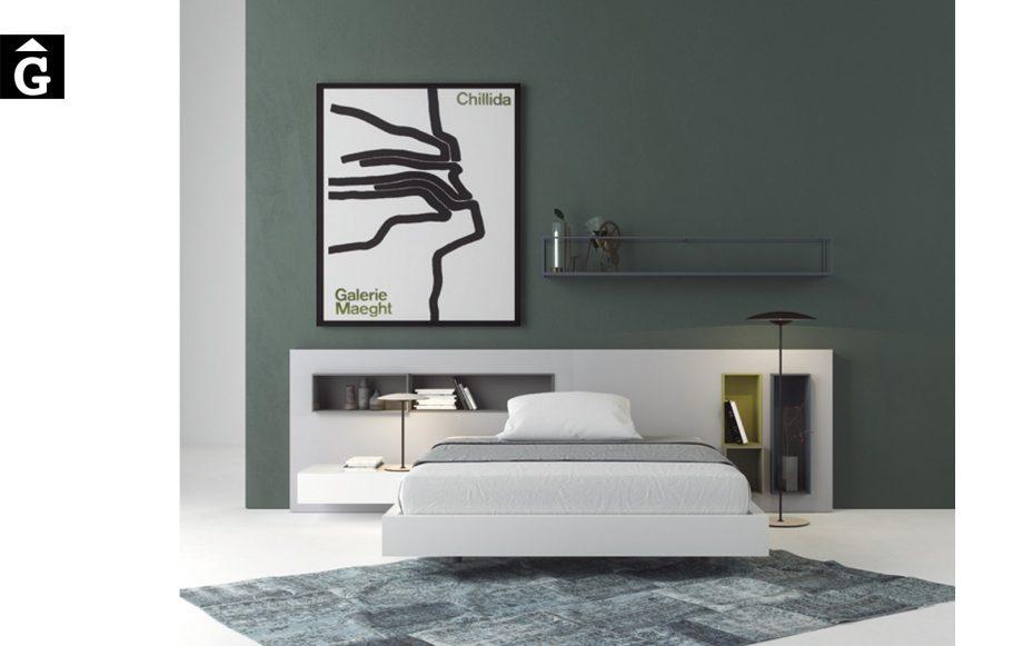 Habitació capçal Box laca blanca mate | Besform mobles Gifreu | Mobles de qualitat i a mida | Girona