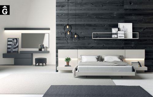 Habitació capçal laca sorra | Besform mobles Gifreu | Mobles de qualitat i a mida | Girona