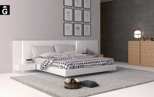 Habitació laca blanca llit gran Sigma | Opció a diferents acabats de laca i xapa fusta natural | Besform mobles Gifreu | Mobles de qualitat i a mida | Girona