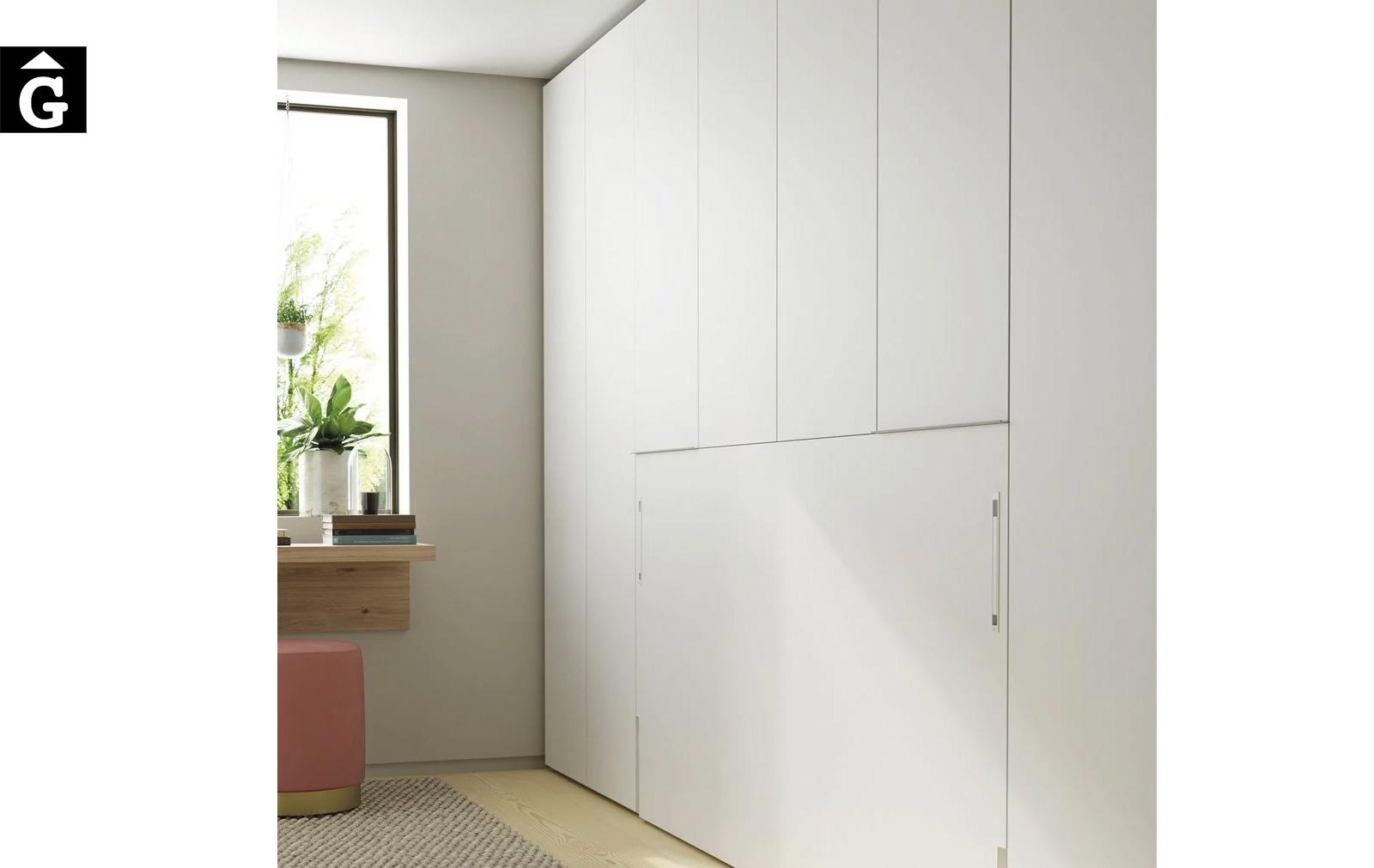 Habitacio estudi amb armari llit abatible | Detall armaris | Up & Down | llits abatibles | Pràctics, saludables i segurs | Jotajotape | mobles Gifreu