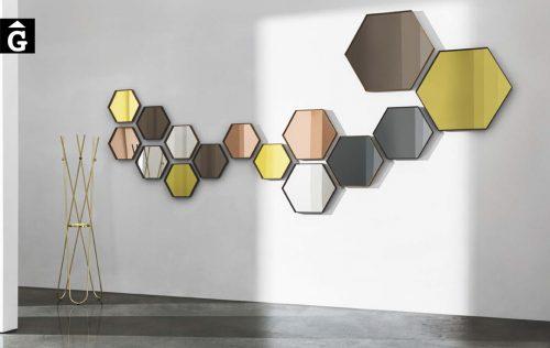 Miralls decoratius Visual hexagonal | Sovet | mobles Gifreu | Botiga | Distribuïdor Girona