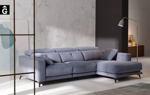 Sofà Chaise longue relax elèctric Julia | Bobbio | Sofàs a mida | grans | llargs | Moderns | Modulars | Per a casa | Comprar sofà | mobles Gifreu | Botiga | Distribuïdor Girona