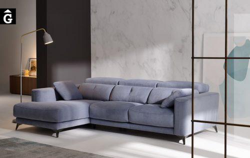 Sofà chaise longue seients lliscants Julia   Bobbio   Sofà pota alta   Sofàs a mida   grans   llargs   Moderns   Modulars   Per a casa   Comprar sofà   mobles Gifreu   Botiga   Distribuïdor Girona