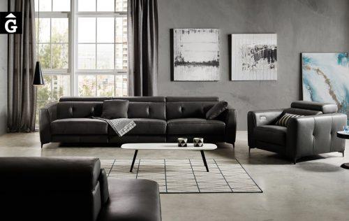 Sofà llarg relax doble motor Claudia | Bobbio | Sofàs a mida | grans | llargs | Moderns | Modulars | Per a casa | Comprar sofà | mobles Gifreu | Botiga | Distribuïdor Girona