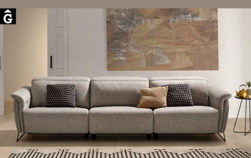 Sofà llarg relax elèctric Ashley | 3 seients amb motor | Bobbio | Sofàs a mida | grans | llargs | Moderns | Modulars | Per a casa | Comprar sofà | mobles Gifreu | Botiga | Distribuïdor Girona