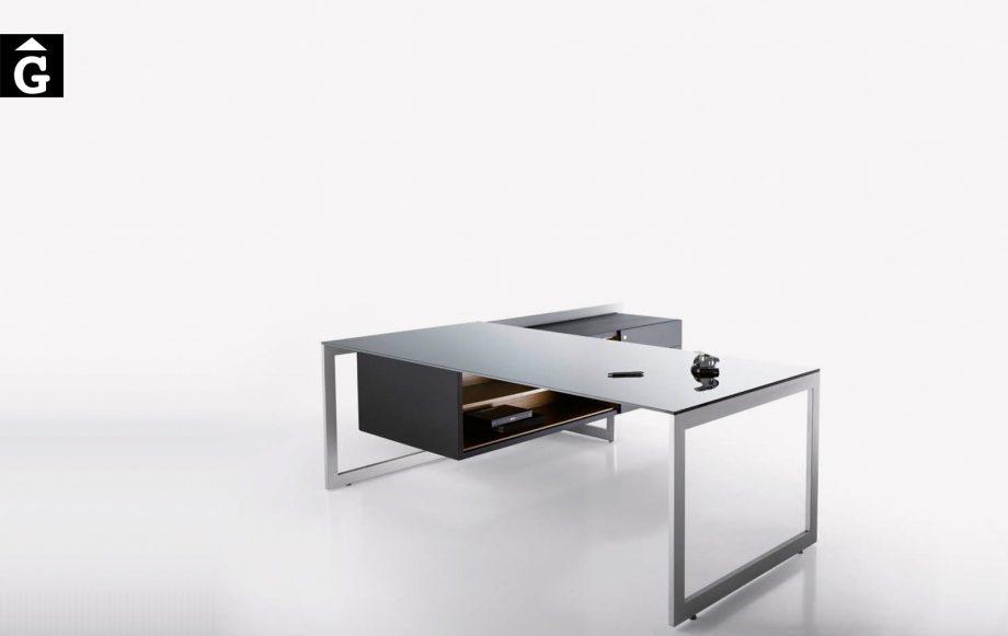 Taula despatx extremada Vector de Josep Lluscà | Forma 5 | mobiliari d'oficina molt interessant | mobles Gifreu | botiga | Contract | Mobles nous d'oficina