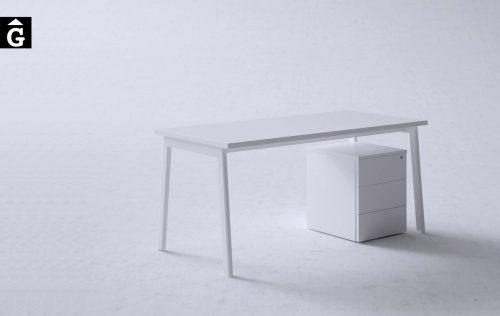 Taula operativa M10 blanca | Disseny Mario Ruiz | Forma 5 | mobiliari d'oficina molt interessant | mobles Gifreu | botiga | Contract | Mobles nous d'oficina