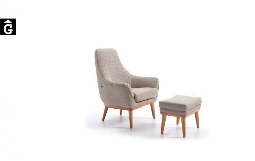 Butaca amb pouff Moli Lisa Alta   Reyes Ordoñez Sofas disseny i qualitat alta distribuïdor oficial mobles Gifreu