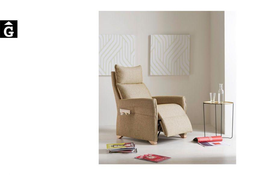 Butaca relax Titan de Reyes Ordoñez Sofas disseny i qualitat alta distribuïdor oficial mobles Gifreu