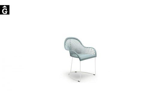 Cadira amb braços pell Guapa P M CU de MIDJ | Disseny Sempere |Taules i cadires de disseny actual | modern i conservador| casual i elegant | mobles Gifreu | Productes de qualitat