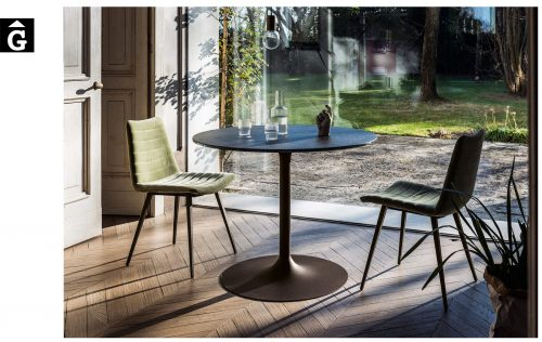 Taula rodona Infinity | Sobre crystalceramic | MIDJ |Taules i cadires de disseny actual | modern i conservador| casual i elegant | mobles Gifreu | Productes de qualitat