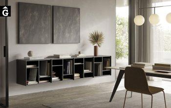 Moble estanteria a paret Lauki | Lauki és un programa de caixes amb portes, calaixos i estanteries dissenyat per Ibon Arrizabalaga| Treku | mobles contemporanis amb tradició | mobles Gifreu