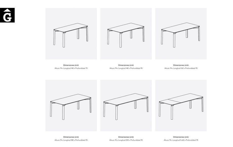 Taula Laga mides en fixa i extensible | Treku | mobles contemporanis amb tradició | mobles Gifreu